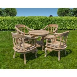 Furniture set: 4 chair and table, teak wood