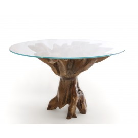 Exclusive table based on teak root
