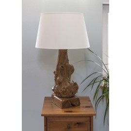 A unique wooden lamp from the root, Teak