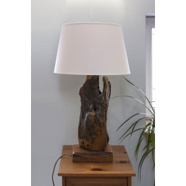 Unikalna lampa drewniana z korzenia, Teak