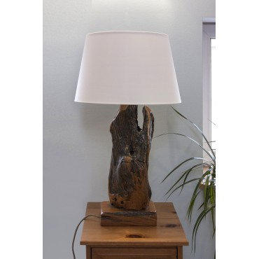 A unique wooden lamp from...