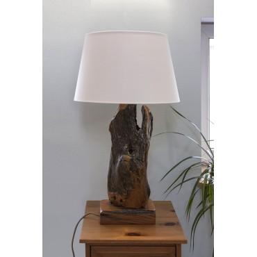 Unikalna lampa drewniana z...