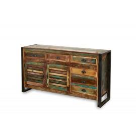 Sideboard made of antiqued wood