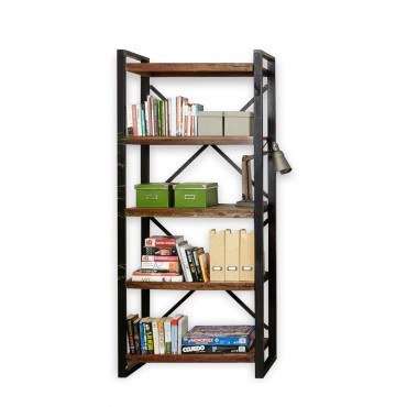 Bookcase made of antiqued wood, Teak