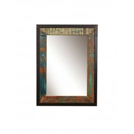Mirror frame or image from antiqued wood, Teak