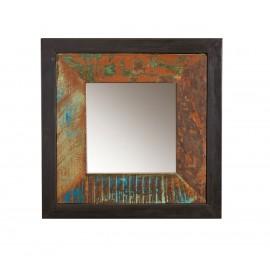 Mirror frame or image from antiqued wood, Teak