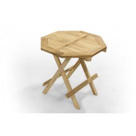 Stolik ogrodowy ośmiokątny - 50 cm, Teak