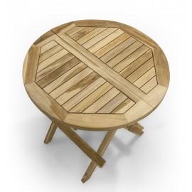 Octagonal garden table - 50 cm, Teak