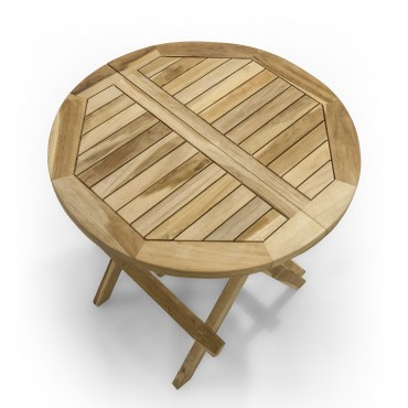Octagonal garden table - 50 cm, Teak