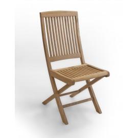 Garden folding chair, teak wood