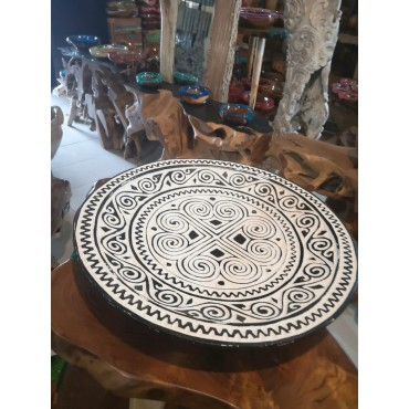 Carved decorative plate...