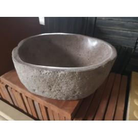 Bali river stone washbasin 40 cm