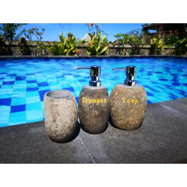 Stone bathroom set, 3 pieces