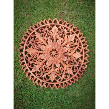 Hand-carved Mandala of...