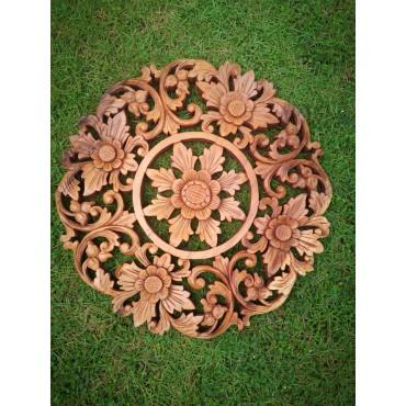 Hand-carved Mandala of...