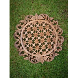 Oriental wall panel - Mandala - Bali sculpture, 40 cm