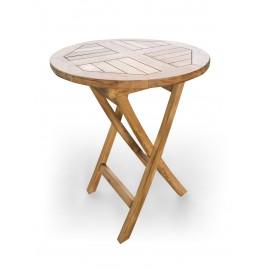 Stolik ogrodowy okrągły - 50/75 cm, Teak