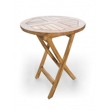 Octagonal garden table - 75 cm, Teak