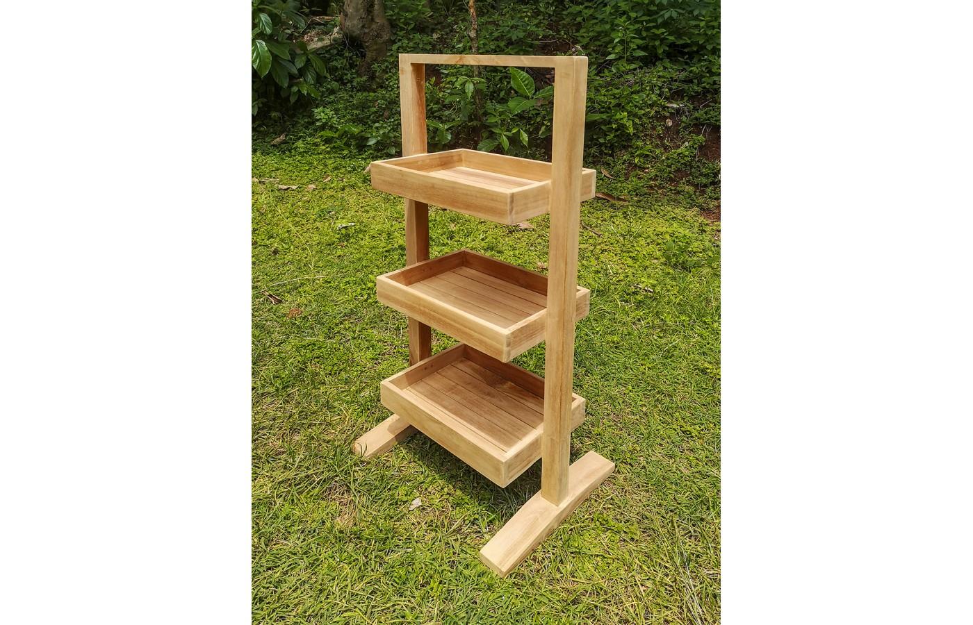 Regał łazienkowy Drewno Teak