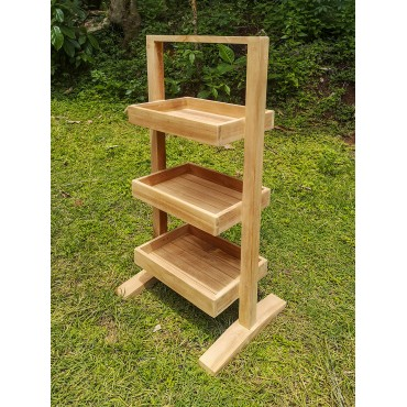 Bathroom shelving, Teak wood