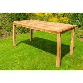 Rectangular garden table, Teak 160 cm