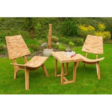 Garden set teak wood