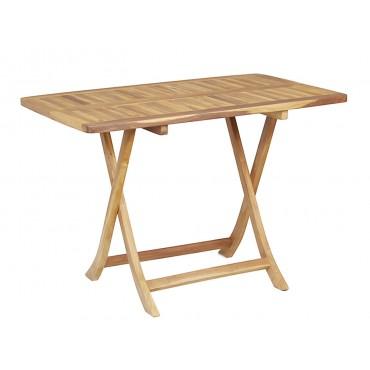 Folding garden teak table
