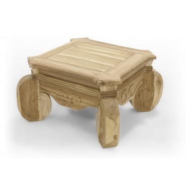 Coffee table, carved, Teak