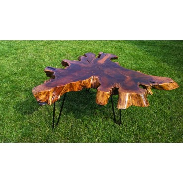 Coffee table with teak root...