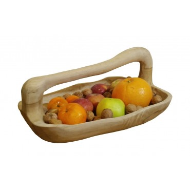 Bowl, Suar wood tray