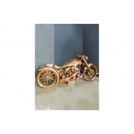 Hand-made sculpture of a life-size motorcycle
