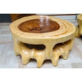 Stolik kawowy z drewna Suar