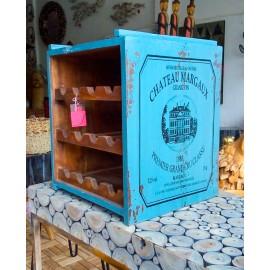 Stojak, szafka na wino Vintage 12 butelek blue