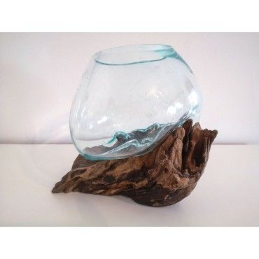 Small Cast glass vase on...