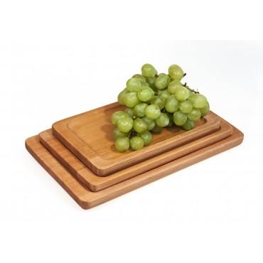 mahogany kitchen tray set