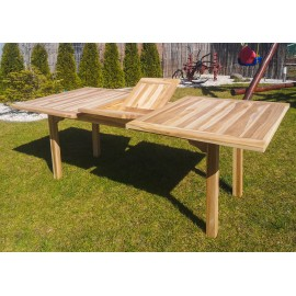 Folden garden table, rectangular, wood Teak 160/200 cm