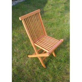 Dziecięce ogrodowe krzesło składane drewno teak