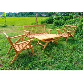 set of garden furniture, teak wood