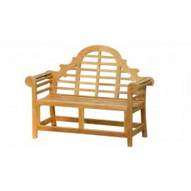 Garden teak bench Tirawa 120 cm