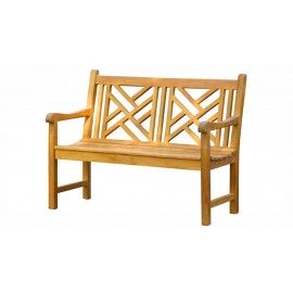 Garden teak bench Wakana 120 cm