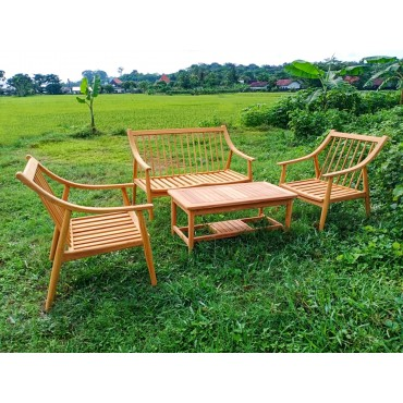 teak wood set of garden...