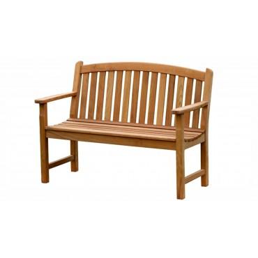 Garden teak bench Wasa 120 cm