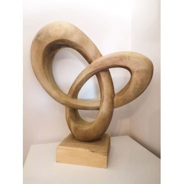Abstract sculpture, Suar wood