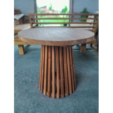 Round garden table, teak 60 cm