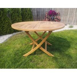 Folding garden table - 120/ 75 cm, Teak wood