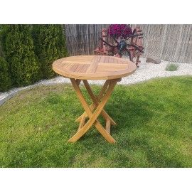 Folding garden table - 70/75 cm, Teak