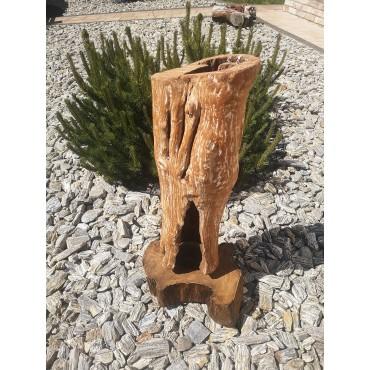 Lampa z drewna teak