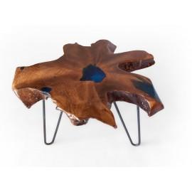 Coffee table teakwood with resin