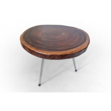 Stół z drewna Suar pokryty...
