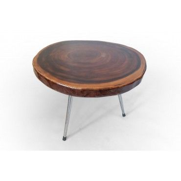 Table Suar wood with resin
